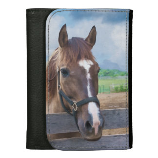 Brown Horse with Halter Wallet For Women