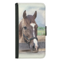 Brown Horse with Halter Wallet Phone Case For Samsung Galaxy S5