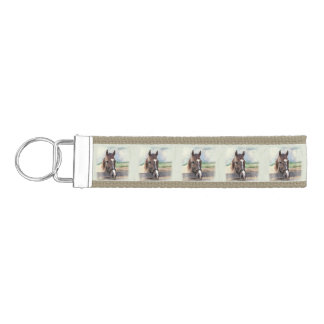 Brown Horse with Halter Wrist Keychain