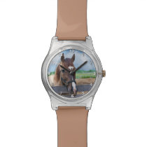 Brown Horse with Halter Wrist Watches