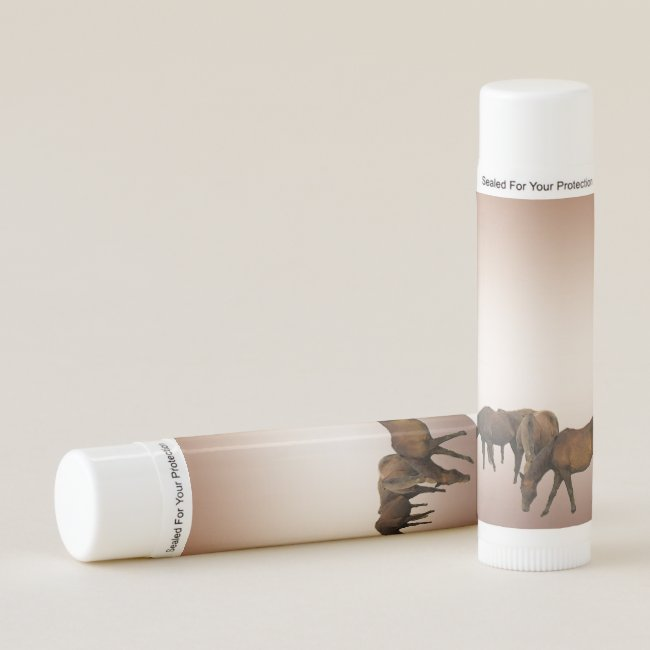Brown Horses Animal Lip Balm