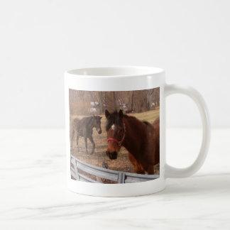 Brown Horses Coffee Mug