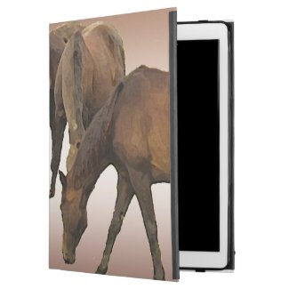 Brown Horses iPad Pro Case