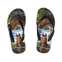 Brown Horses, Kid's Flip Flops