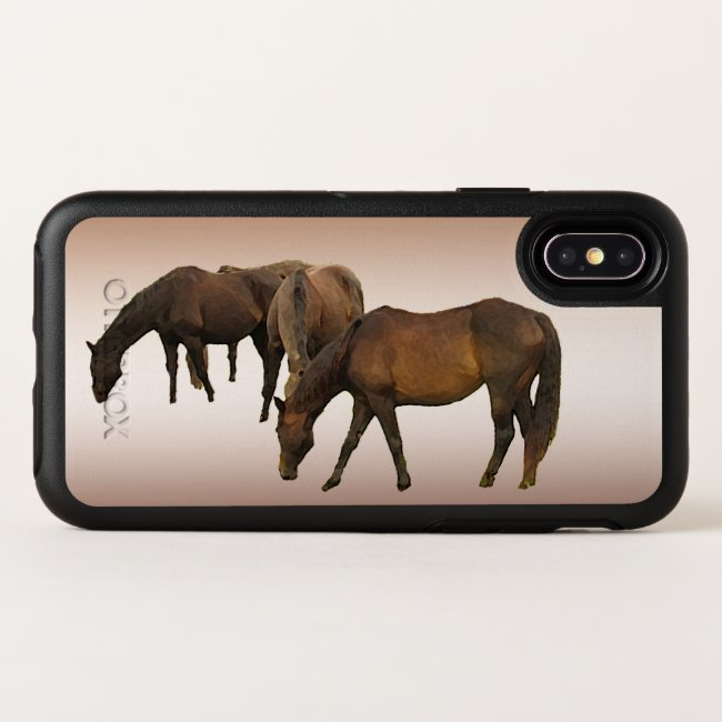 Brown Horses OtterBox iPhone X Case