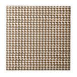 Brown Houndstooth Ceramic Tile