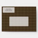 Brown Houndstooth Handsome Gentlemen's Pattern Envelope