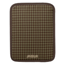 Brown Houndstooth Handsome Gentlemen's Pattern iPad Sleeve