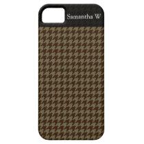 Brown Houndstooth Handsome Gentlemen's Pattern iPhone SE/5/5s Case
