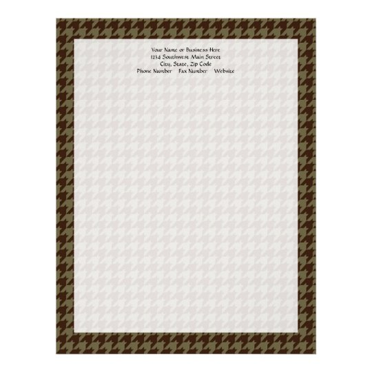 Brown Houndstooth Handsome Gentlemen's Pattern Letterhead