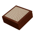 Brown Houndstooth Jewelry Box