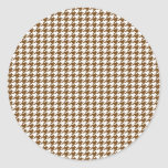Brown Houndstooth Stickers