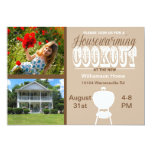 "Brown Housewarming Cookout Invitation 5"" X 7"" Invitation Card"