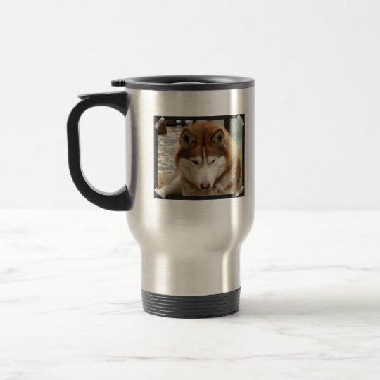 Brown Husky  Travel Mug