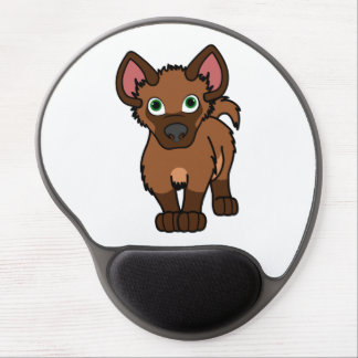 Brown Hyena Cub Gel Mouse Pad