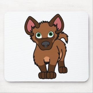 Brown Hyena Cub Mouse Pad