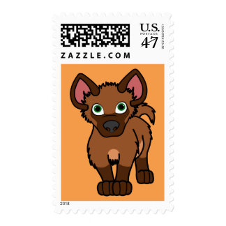 Brown Hyena Pup Stamp