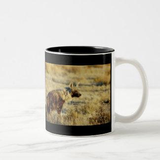 Brown hyena wildlife mugs cups