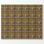 "[ Thumbnail: Brown, Imitation Gold Look ""78th Birthday"" Wrapping Paper ]"