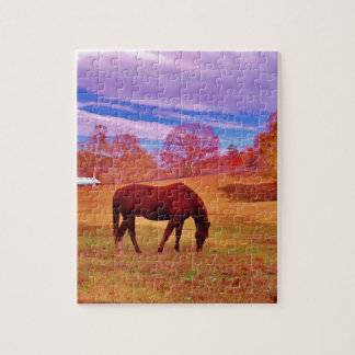 Brown in a dreamy colored field puzzle