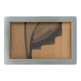 Brown industrial style abstract. rectangular belt buckle