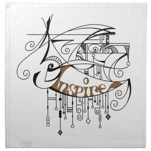 Brown inspira en líneas y cuelga servilleta de papel