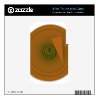 brown iPod touch 4G decal