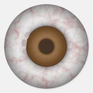 Brown Iris Eyeball Sticker