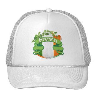 Brown Irish Shield Trucker Hat