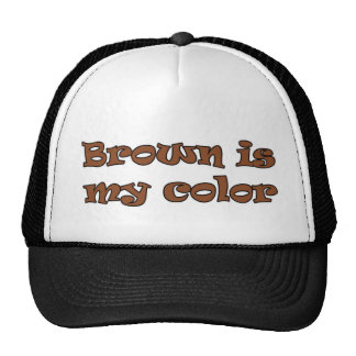 Brown is my color mesh hat