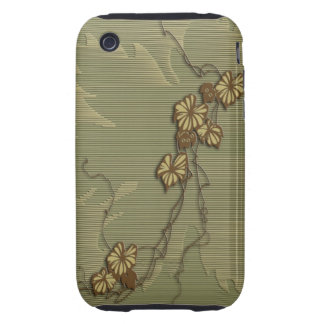 Brown ivy and grape leaf iPhone 3 tough cover