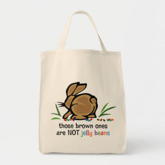 Brown Jelly Beans Grocery Tote Bag