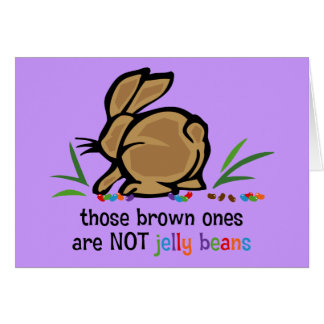 Brown Jelly Beans Greeting Card