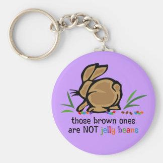 Brown Jelly Beans Basic Round Button Keychain