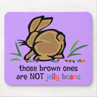 Brown Jelly Beans Mouse Pads