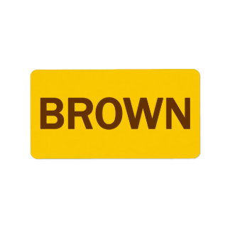 BROWN - Jerry Brown 4 CA Governor Label