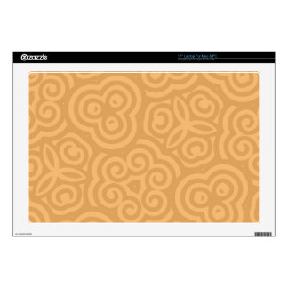 Brown Kaleidoscope Abstract Pattern Decal For Laptop