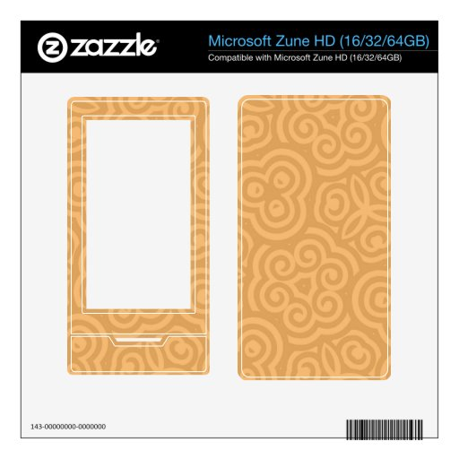 Brown Kaleidoscope Abstract Pattern Decals For The Zune HD