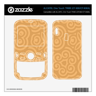 Brown Kaleidoscope Abstract Pattern ALCATEL Tribe Skins