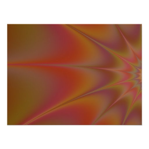 Brown Kaleidoscope decor room accent Poster