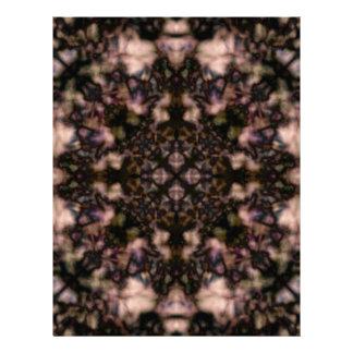 Brown kaleidoscope pattern letterhead