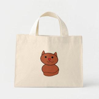 Brown Kawaii Cat Bag