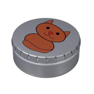 Brown Kawaii Cat Candy Tin