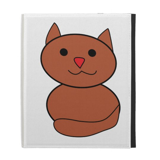 Brown Kawaii Cat iPad Case
