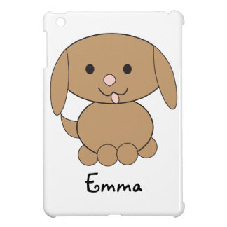 Brown Kawaii Dog Customizable Case For The iPad Mini