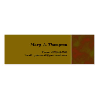 Brown Khaki goldenrod  texture side border Double-Sided Mini Business Cards (Pack Of 20)