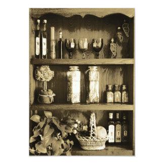 Brown Kitchen Closet Bridal Shower Invitation