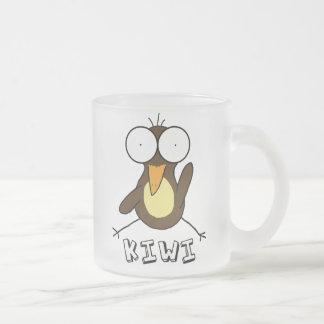 Brown Kiwi Frosted Mug