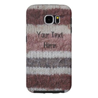 brown knitted stripes vintage style fun design samsung galaxy s6 case