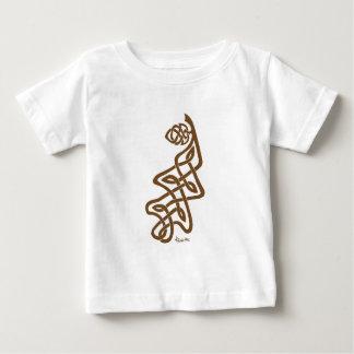 Brown Knotwork Oak Leaf & Acorn Baby T-Shirt